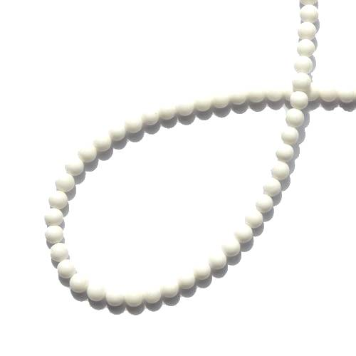 Mother of Pearl, rond, 4mm; per 40cm streng