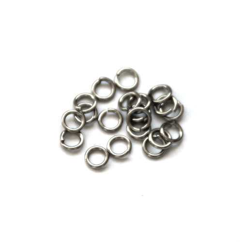 Stainless steel open ring 4mm, wire 0.8mm; per 250 stuks