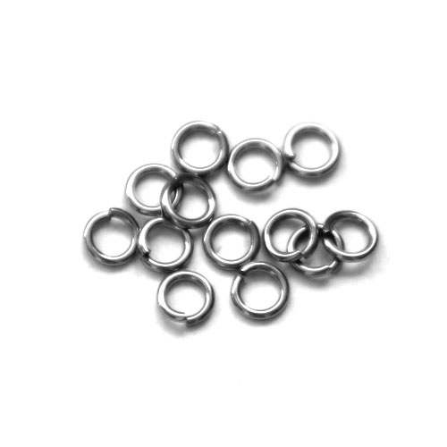 Stainless steel open ring 5mm, wire 0.8mm; per 250 stuks