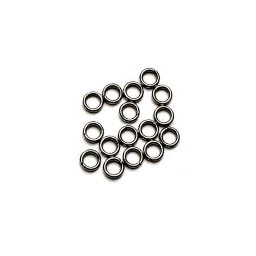 Stainless steel open ring 6mm, wire 1mm; per 250 stuks
