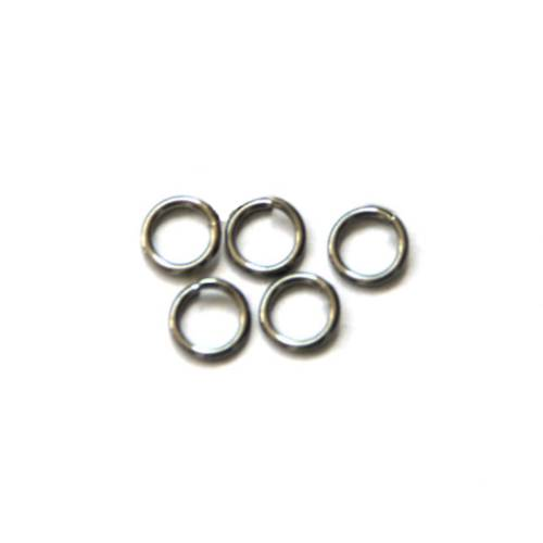 Stainless steel open ring 7mm, wire 1mm; per 250 stuks