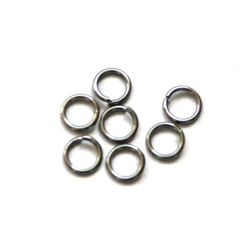 Stainless steel open ring 8mm, wire 1mm; per 250 stuks
